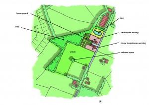 Schetsvoorstel van locatie